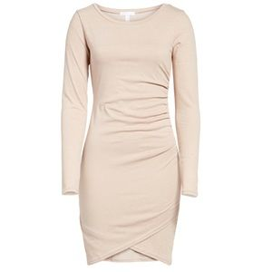 Leith Ruched Long Sleeve Body-con Dress